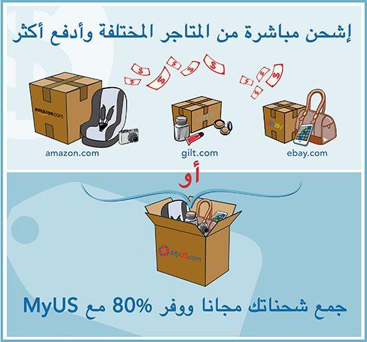 تجميع الشحنات في ماي يو أس MyUS